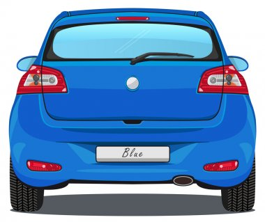 Car - Back view - Blue