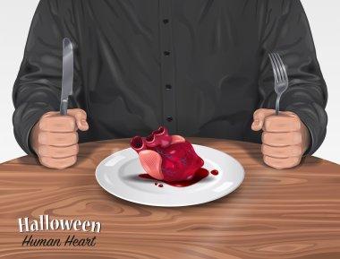 Halloween Menu - Human Heart