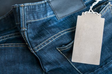 price tag on jeans