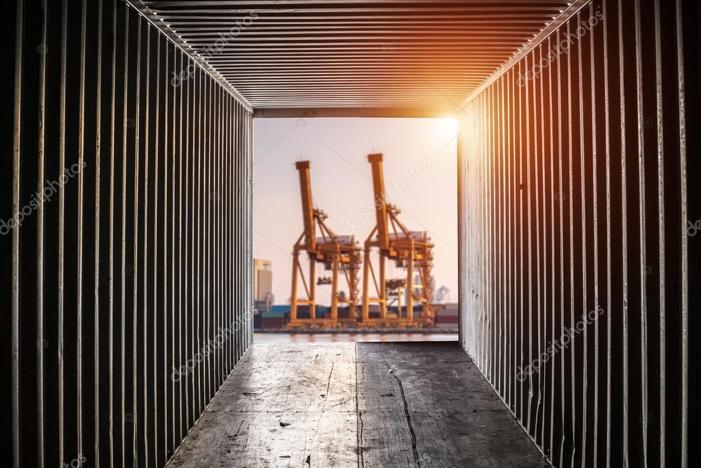 view from shipping container