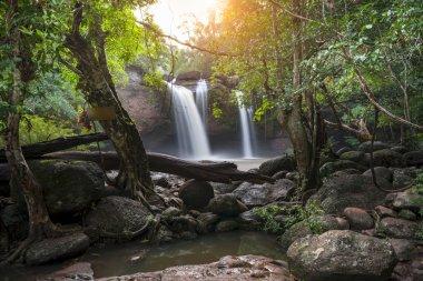 Waterfall cave, Haewsuwat waterfall at Khao Yai National Park, T
