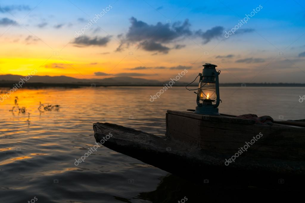 Lamp on fishing boat