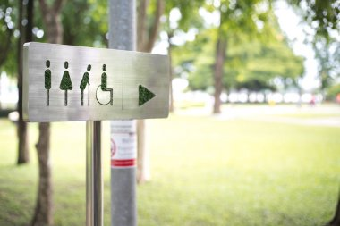 toilet signboard in public park