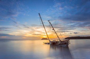 Yacht on the beach