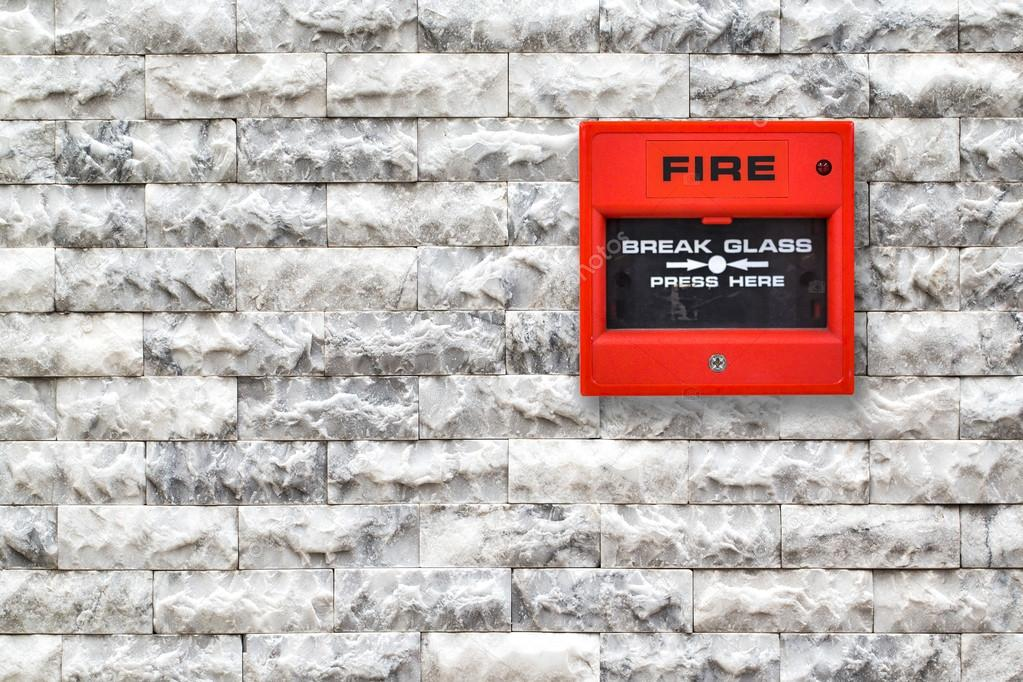 Switch fire alarm on the marble.