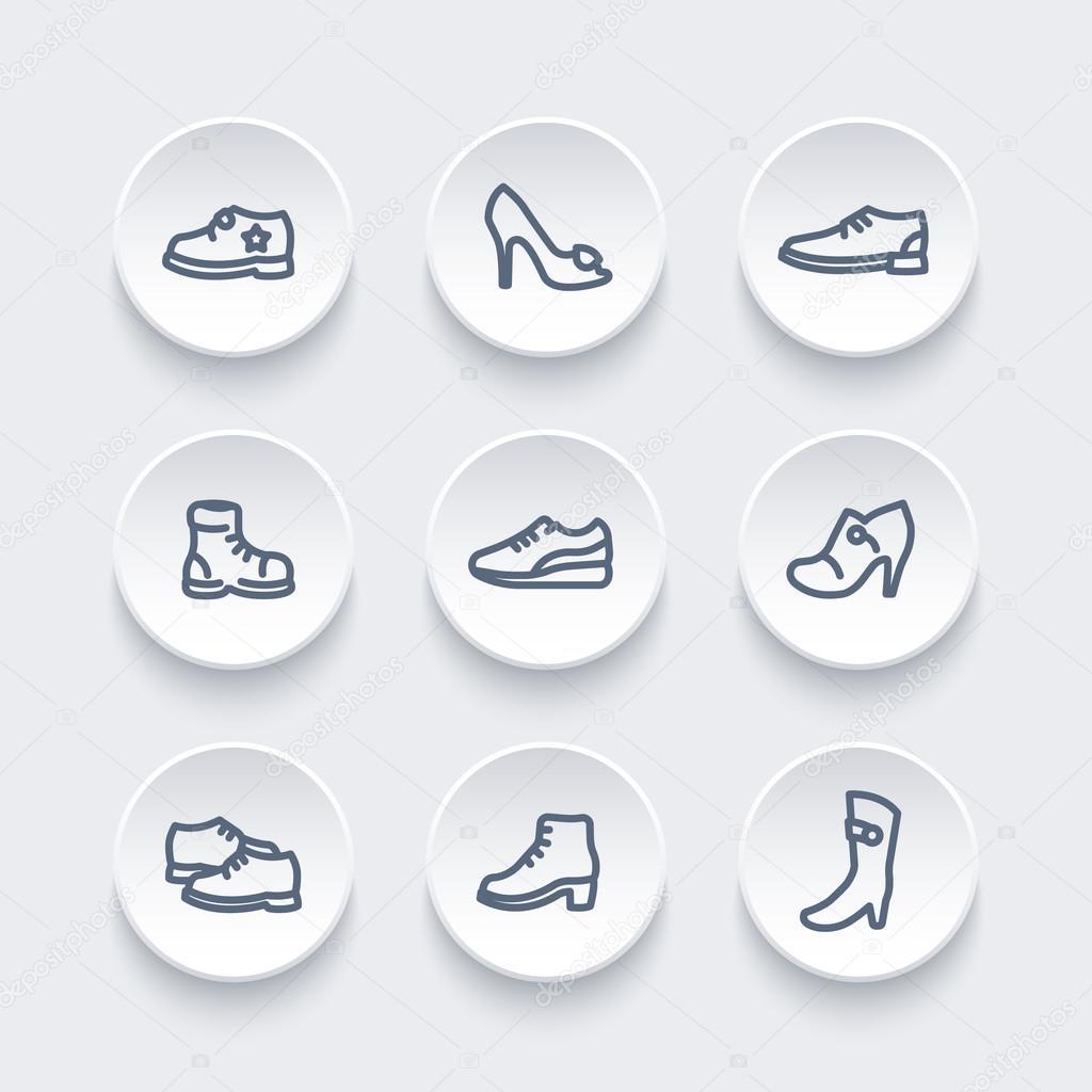 Linea Icone Icone Scarpe Stivali Tacchi Di Sportive YZqzU