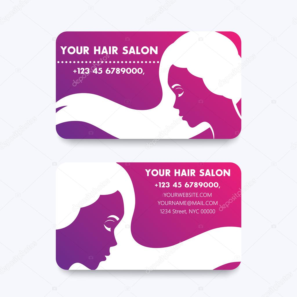 Business card design for hair salon hairdresser vector business card design for hair salon hairdresser vector illustration vetores de stock reheart Image collections