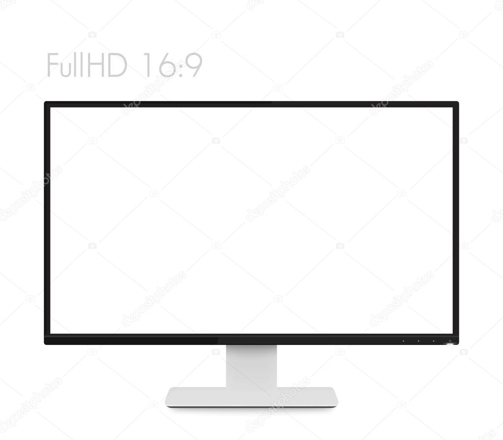 controlar la maqueta en pantalla ordenador realista blanco, moderno ...