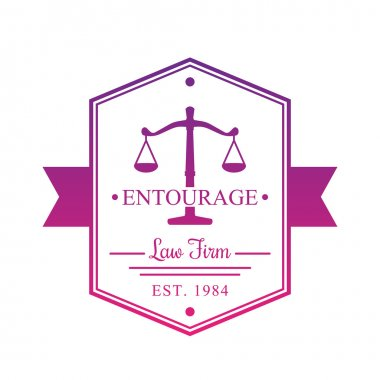 Law Firm vintage logo, badge on white clip art vector