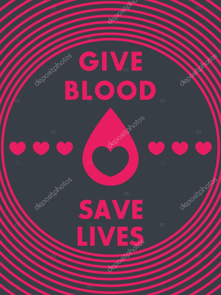 Poster design on blood donation - Blood Donation Poster Design Dark Version Vector Illustration Vector By Nexusby