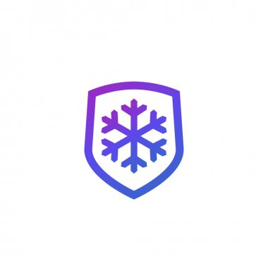 Frost-resistance, cold resistant icon, vector, eps 10 file, easy to edit icon