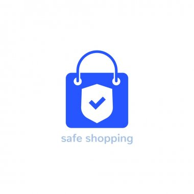 Safe shopping vector logo for store, eps 10 file, easy to edit icon