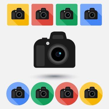 DSLR camera flat icon