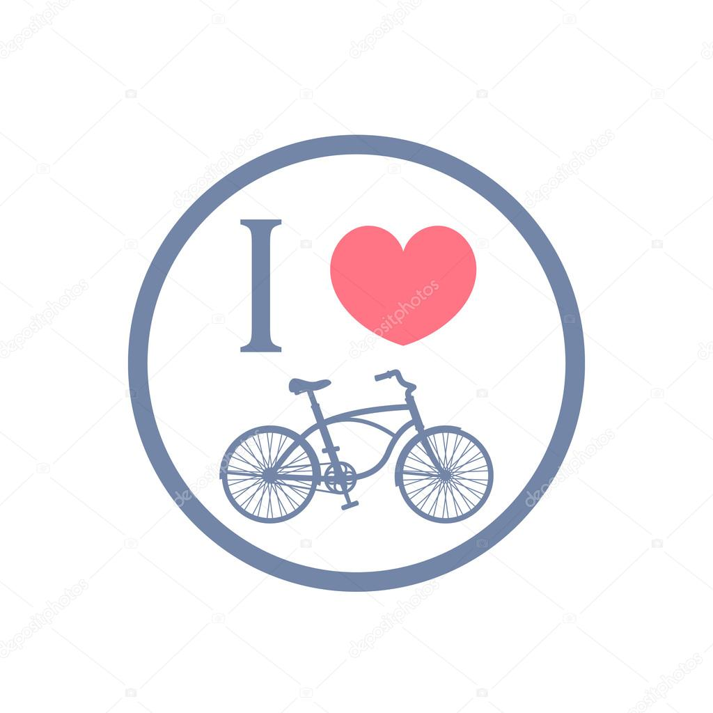 I Love Cycling Color Sign Stock Vector Nexusby 82372362