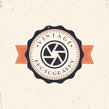 Vintage Photography Grunge emblem