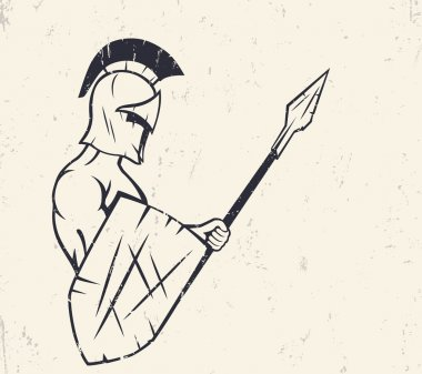 spartan with spear and shield