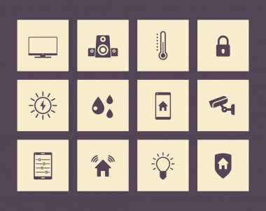Smart house icons pack, vector illustration, eps10, easy to edit clip art vector