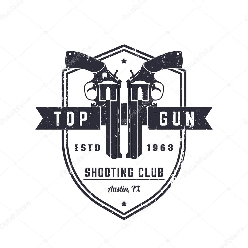 Gun club vintage grunge logo emblem with revolvers stock vector gun club vintage grunge logo emblem with revolvers stock vector buycottarizona