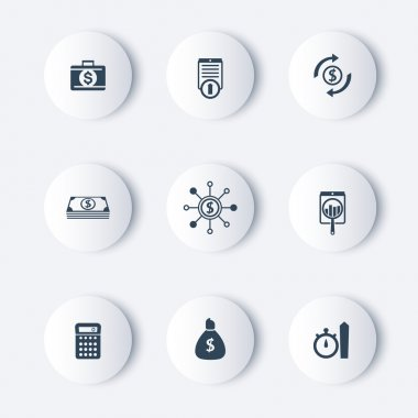 finance, investments, fund round modern icons