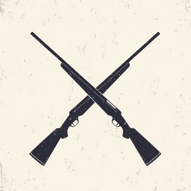 Crossed hunting rifles, vector illustration stock vector