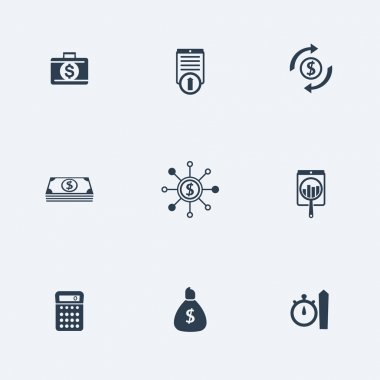 finance, investments, capital, simple icons set, vector illustration