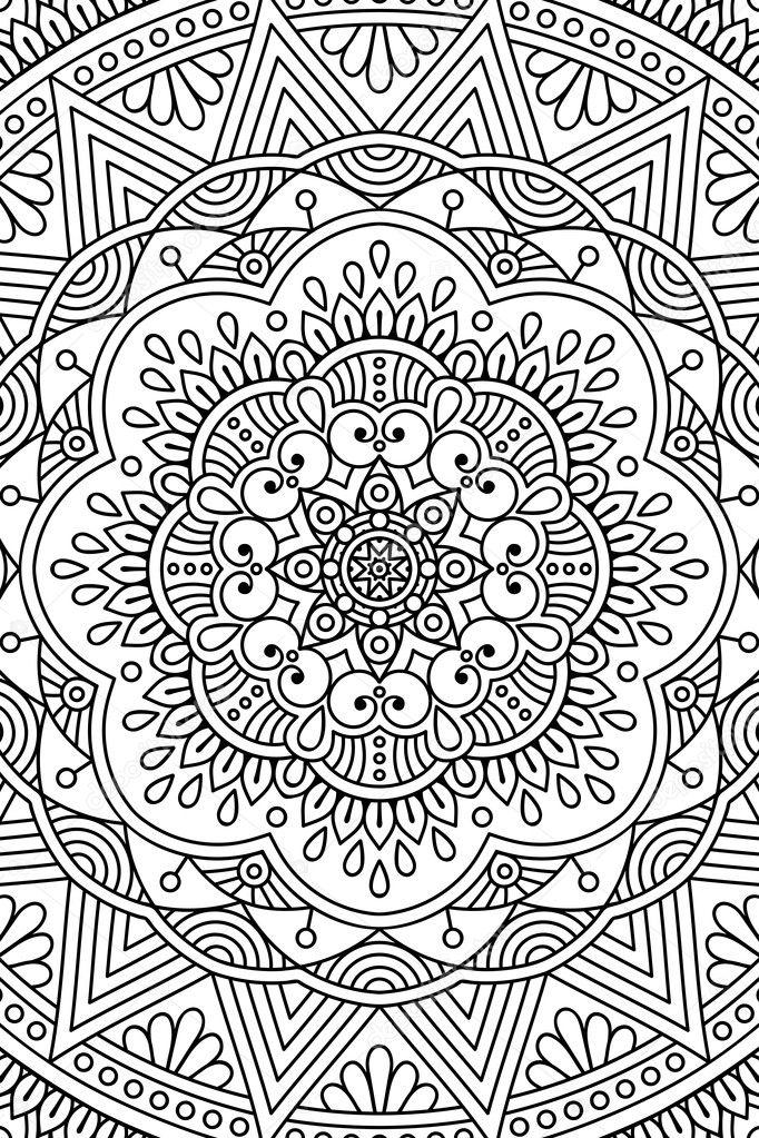 Vektor Indische Mandala Hintergrund Stockvektor Vikasnezh 119282248