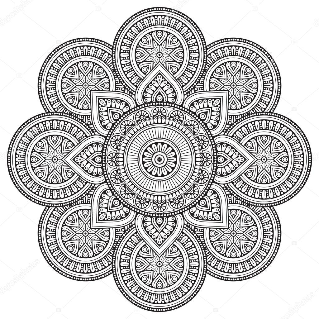 Vektor Indische Mandala Stockvektor Vikasnezh 119283146