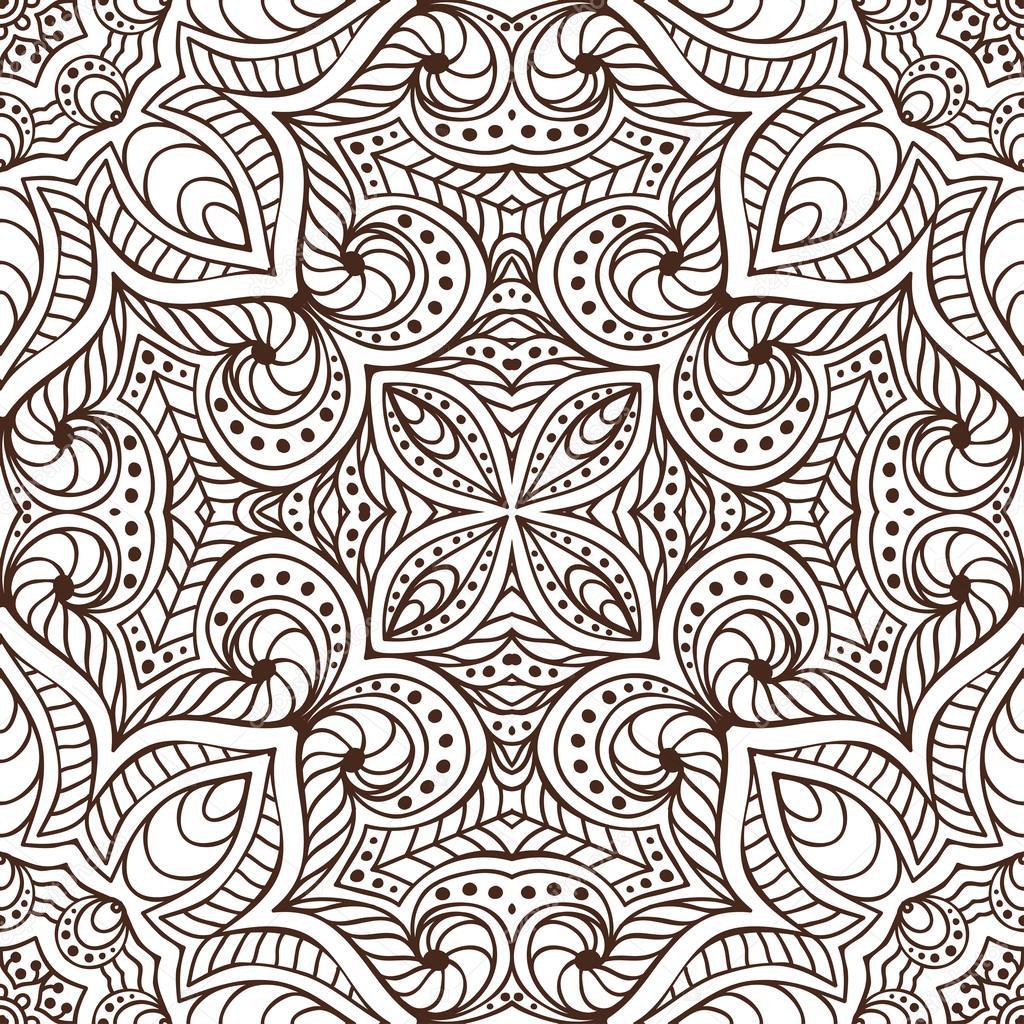 indienne transparente motif floral l ments de d coration vintage arri re plan dessin la. Black Bedroom Furniture Sets. Home Design Ideas