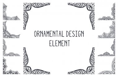 Crad. Round Ornament Pattern. Vintage decorative elements. Hand drawn background. Islam, Arabic, Indian, ottoman motifs.