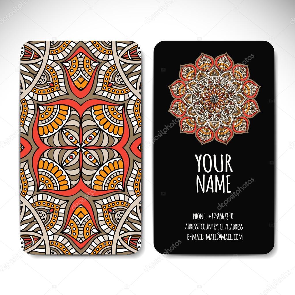 169acf5eb0a8c Colección de tarjetas. Elementos decorativos vintage. Fondo dibujado a mano.  Islam