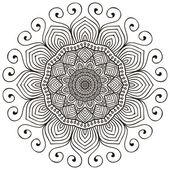 Mandala. kerek dísz minta. Vintage díszítő elemek. kézzel rajzolt háttér. iszlám, Arab, indiai, Török motívumok