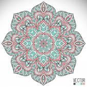 Mandala vagyok. Kerek dísz minta. Vintage dekoratív elemek. Kézzel rajzolt háttér. Iszlám, arab, indiai, ottomán motívumok.
