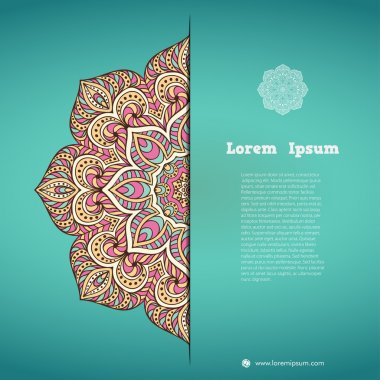 Business card. Vintage decorative elements. Hand drawn background. Islam, Arabic, Indian, ottoman motifs.