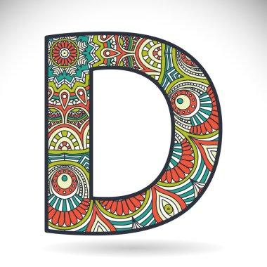 Vintage alphabet letter D