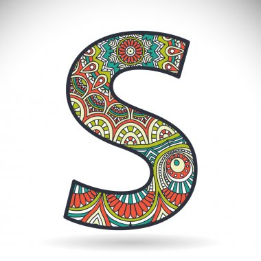 Vintage alphabet letter S