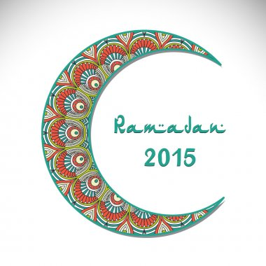 Creative greeting card design for holy month of muslim community festival Ramadan