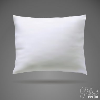 White pillow on grey background