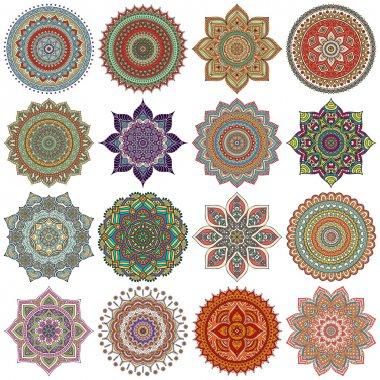 Mandala. Round Ornament Pattern set