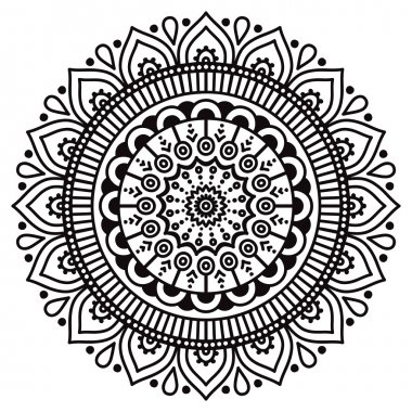 Vector Mandala. Round ornament in ethnic style. Hand draw stock vector