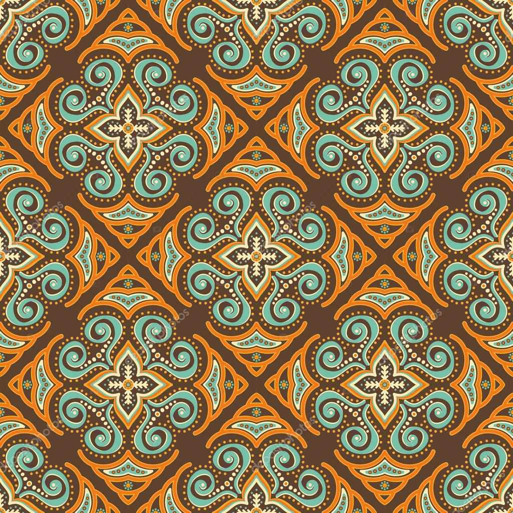 Ethnic background seamless pattern
