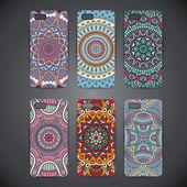 Telefonní případ, barevný květinový vzor. Vektorové pozadí. Vintage dekorativní prvky. Africké, islám, arabština, indický, osmanské motivy