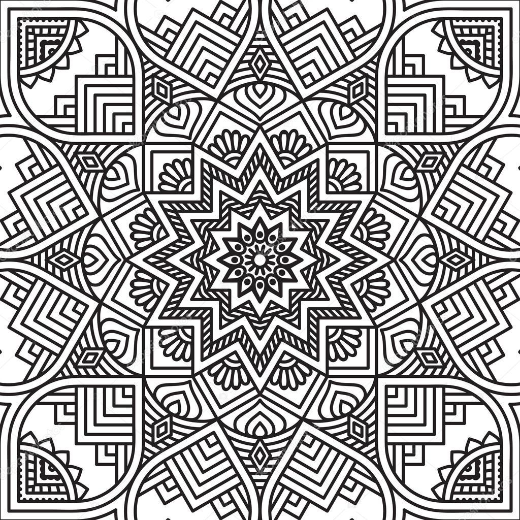 Mandala Coloring Page Stock Vector C Vikasnezh 90227634