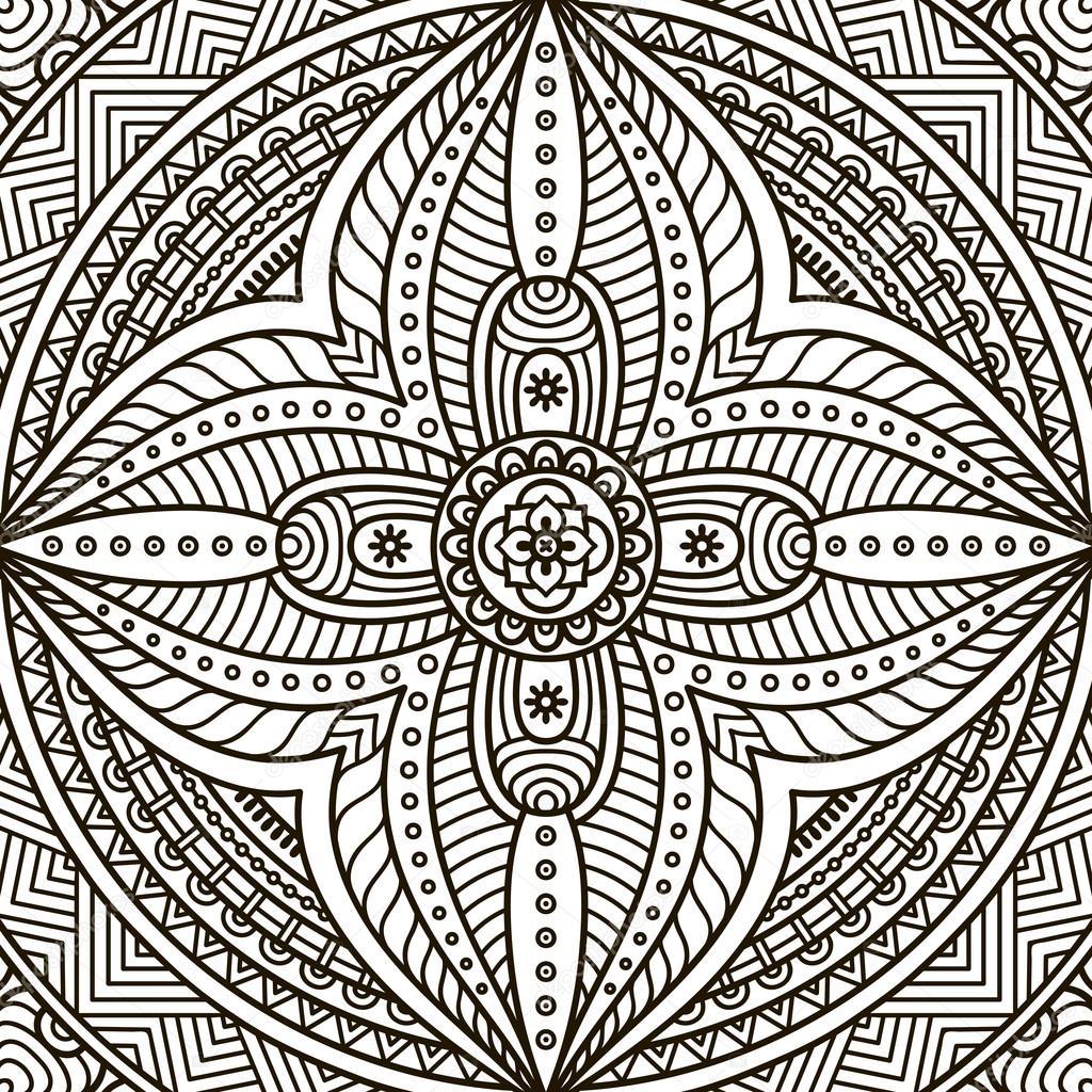 mandala kleurplaat stockvector 169 vikasnezh 90227690
