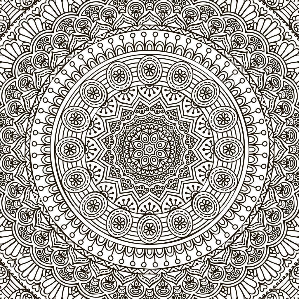 Mandala Coloring Page Stock Vector C Vikasnezh 90227828