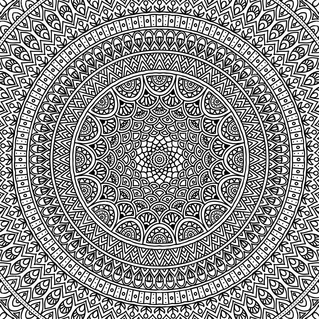 Mandala Coloring Page Stock Vector C Vikasnezh 90228474