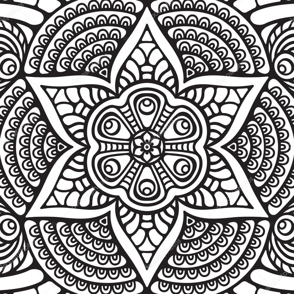 Mandala Coloring Page Stock Vector C Vikasnezh 90228988
