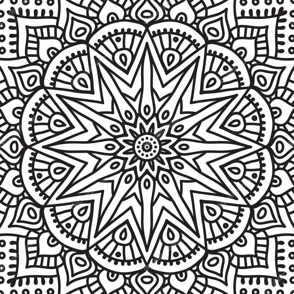 Kleurplaten Keltische Mandala.Kleurplaat Mandala