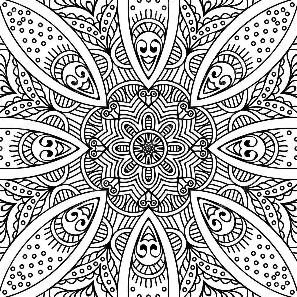 Mandala. Coloring page — Stock Vector © VikaSnezh #90229166