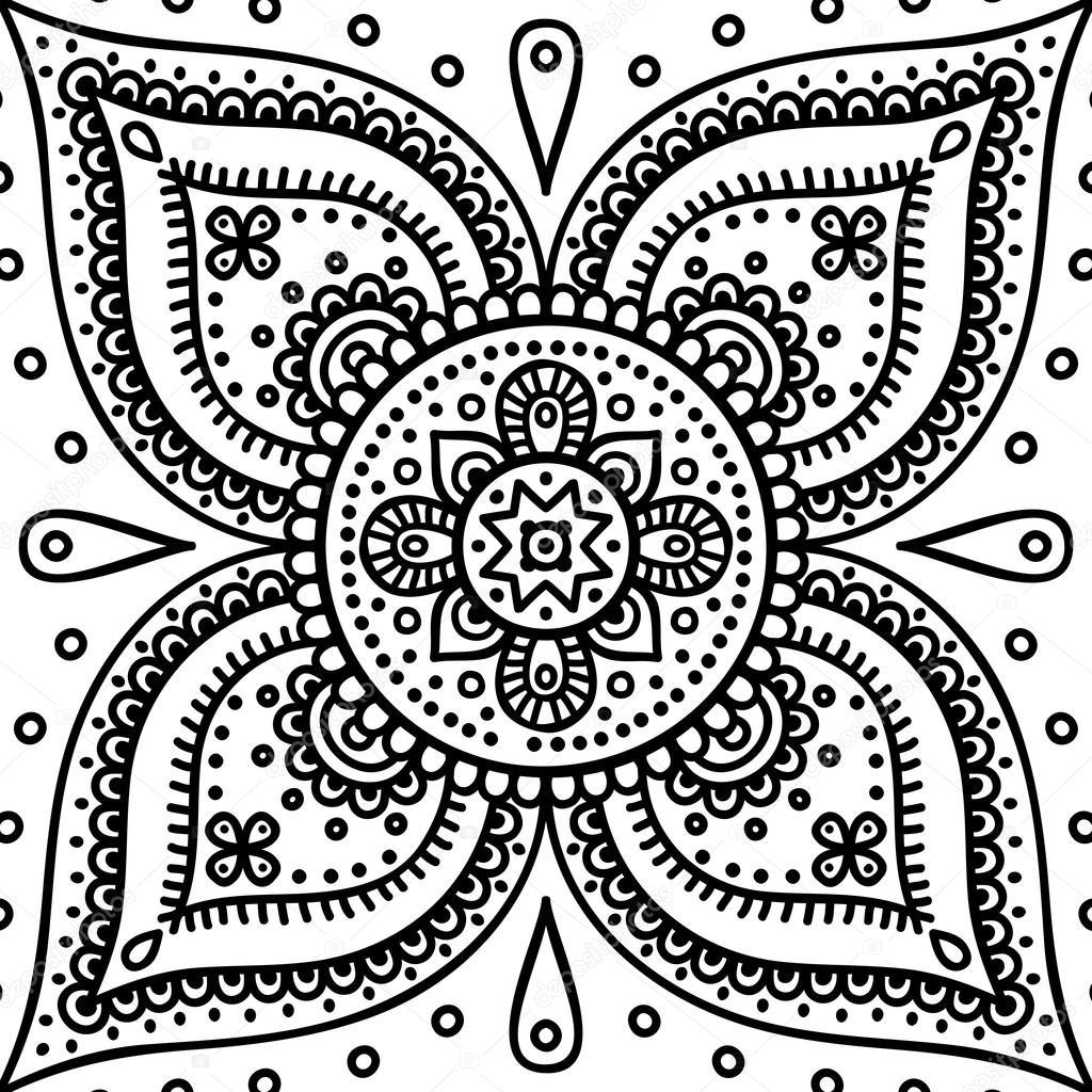mandala kleurplaat stockvector 169 vikasnezh 90229208