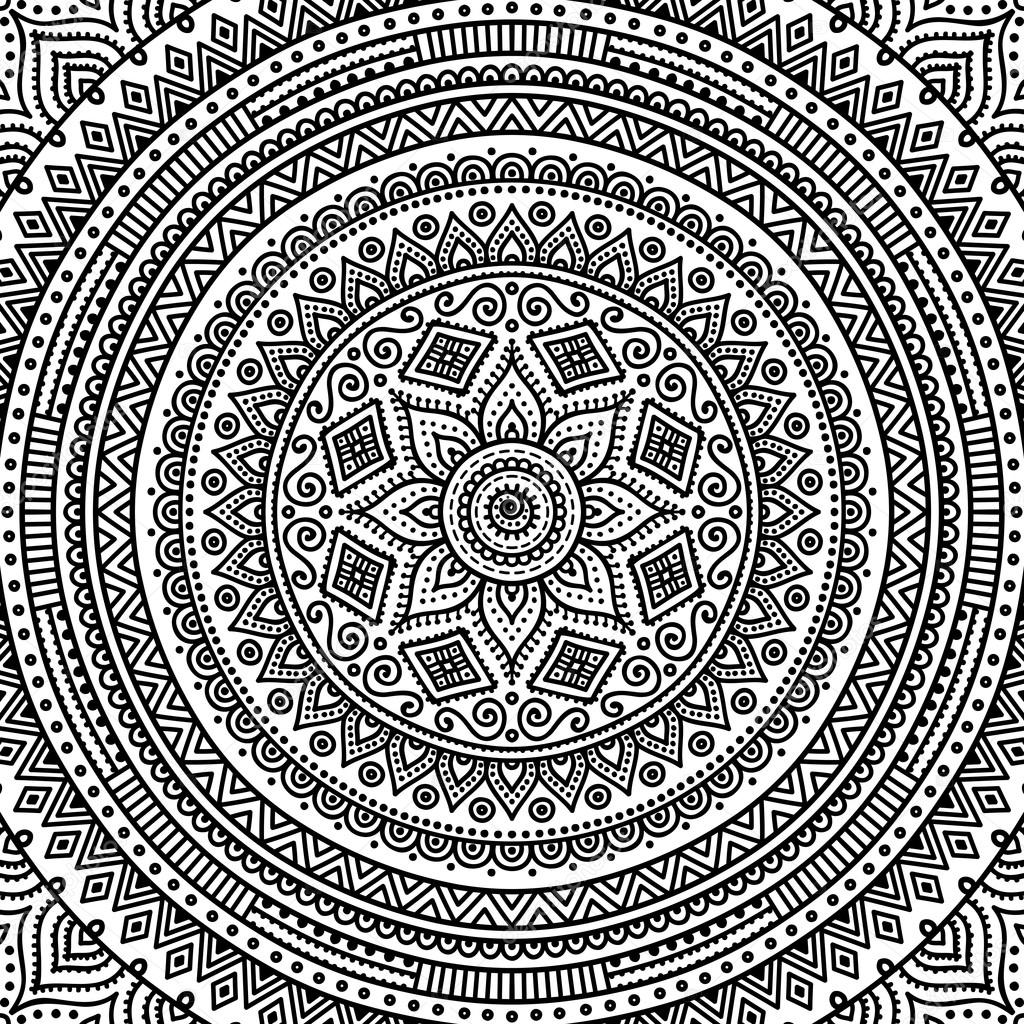 Mandala Kleurplaat Stockvector Vikasnezh 90229218